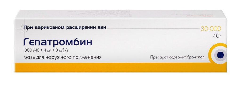 гепатромбин гель от геморроя